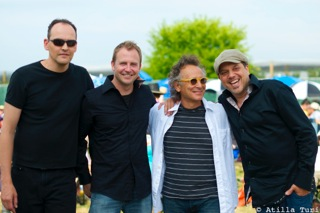 Jamie with bass player, Rich Moore, the disarmingly talented Marc Jordan, and piano man Mark Lalama